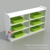 BEK14-BF222幼儿园区域储物柜 角色分区柜 无背板白色木柜