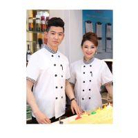 绿洲半袖酒店餐饮后厨工装新上市 夏季短袖厨师工作服短袖厨房工作服