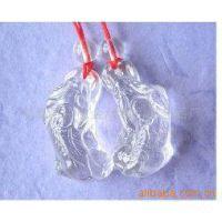 批发吊坠 白水晶貔貅挂件 纯天然水晶 招财进宝 辟邪  情侣挂件