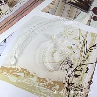 DIY饰品配件批发 透明塑料马尾夹 马尾扣 白色 5个 2293