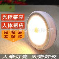 创意LED红外人体感应灯智能光控小夜灯楼道灯床头橱柜衣柜灯电池