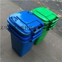 三门80升塑料垃圾桶 长方形 绿色垃圾桶 批发