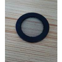 橡胶包边水表过滤网垫片DN25外直径30mm滤网垫片304不锈钢40目