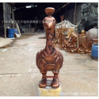 广州制作优质玻璃钢孔雀雕塑 园林景观摆件