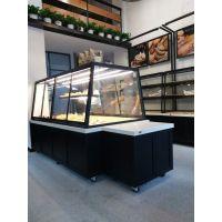 供应加工定制组装实木惠利展柜HL5502绍兴面包展示柜