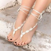 亚马逊ebay速卖通脚饰纯手工连指脚链欧美barefoot sandals