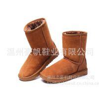 供应2013冬季中筒女靴 牛皮毛雪地靴 专柜正品保暖靴 多色可选 6801