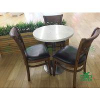 环保简约餐厅实木椅,快餐店餐椅 咖啡店休闲餐椅,水曲柳实木椅