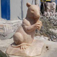 供应十二生肖雕刻晚霞红石雕鼠石雕牛石雕虎厂家定做
