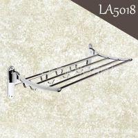 LA5018 厂家直销高档浴室挂件 折叠浴巾架 卫浴五金挂件毛巾架