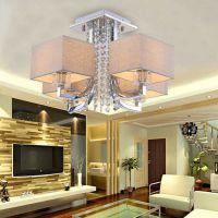 现代简约奢华水晶灯 客厅餐厅卧室灯具 LED水晶吸顶酒店工程灯