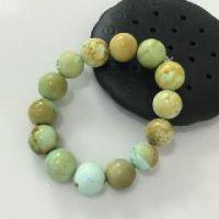 供应原矿绿松石圆珠手串S19