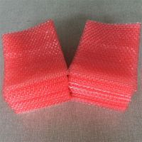 佛教礼品缓冲包装袋 红色单面气泡袋 常州包装材料厂特价定制尺寸
