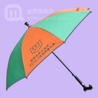 【拐杖雨伞】生产—欧耐克 拐杖广告雨伞 老人专用雨伞