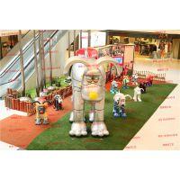 玻璃钢卡通动物雕塑 商场景观装饰美陈雕塑厂家定做