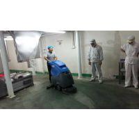 泰安食品厂用艾隆AL50B手推式洗地机