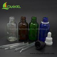 Ecannal ecig essential oil classic round glass bottles