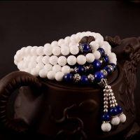 正品纯天然白砗磲手链女 108颗佛珠多层手串礼物女  多层多圈手链