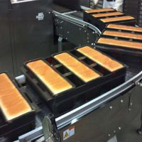 金属链板输送机 面包生产线