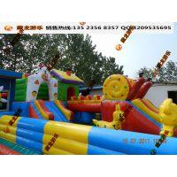 儿童充气城堡暑假生意挣钱多 小孩子玩的大气床款式 鲨鱼城堡定制厂家