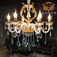 现货批发供应各种规格灯具 优质玻璃弯管吊灯一级水晶 客厅餐厅灯