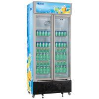 海尔SC-450G商用冷藏柜 立式双门酒水饮料柜 立式双门冷藏展示柜