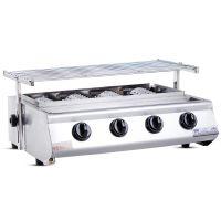 升级款小四头燃气烧烤炉烤肉炉环保耐用户外商用无烟烧烤炉批发