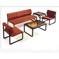 时尚办公接待沙发 现代会议沙发茶几组合 简约布艺洽谈会客沙发椅