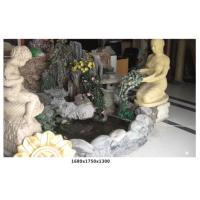 供应河南雅舍雕塑玻璃钢假山水景喷泉室内假山绿化