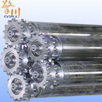 广州擎川加工定制碳钢镀锌双齿轮动力滚筒 流水线输送线传送设备专用滚筒