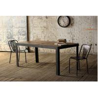 美式乡村时尚做旧实木铁艺餐桌饭桌客厅桌酒店桌长方形实木餐台