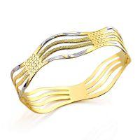 时尚饰品厂家来图来样设计 24K黄金首饰 925银光身手镯 素银首饰