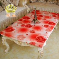 冠业PVC餐桌布透明磨砂软质玻璃塑料台布桌垫免洗防水防油茶几垫