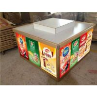 鑫淼1.2*1.2M超市铝合金促销货柜,上海配阶层散货堆头柜生产家,重庆熟食零食展示柜材料