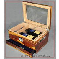 【10年厂家】雪茄保湿酒盒 双支装葡萄酒木盒 雪松木红酒木盒