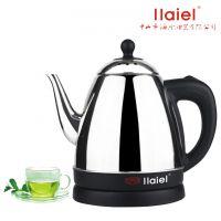 全不锈钢电热泡茶壶提盖壶长嘴壶加厚钢板快速热水壶1.2L诲乐泡茶壶