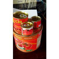 工厂直接供应番茄酱罐头70G 400G出口非洲