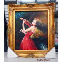 《琴女》精品油画尺寸90X60cm