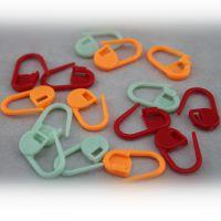编织工具 彩色记号小别针 防解别扣 5只1袋  颜色随机发