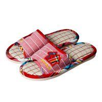 厂家直销慈溪爬爬步卡通可爱型亚麻拖鞋