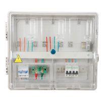 电表箱三户三表位电子插卡式透明电表箱