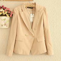 13秋季新款休闲蕾丝长袖小西服外套修身韩版潮显瘦黑色大码女