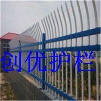 专业生产锌钢铁艺护栏庭院别墅围墙护栏热度锌钢阳台护栏结构严谨