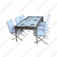 百年老妈火锅桌 钢化玻璃伸缩餐台 长方形隐形火锅桌子