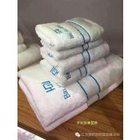 淮安毛巾厂家定制高星级酒店色纬断档绣花毛巾