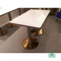 现代连锁餐厅家具定制大促销 大理石餐桌 深圳餐桌椅厂家 运达来