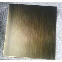 高档青古铜拉丝板 不锈钢青古铜板 KTV装饰铜板 不锈钢青古铜蚀刻板