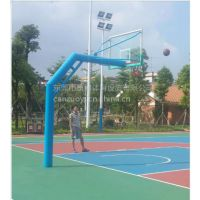 康腾篮球架下乡 打螺丝篮球架好发货 简易安装圆管篮球架供应厂家
