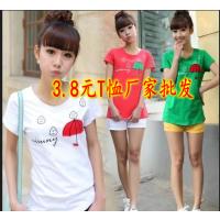 服装女式T恤厂家库存T恤批发,纯棉打底衫正价统一面料,款式多,质量好,独立包装