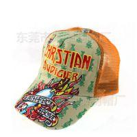 嘻哈潮网帽韩版涂鸦刺绣绣花鸭舌货车帽棒球帽女男士遮阳帽子春夏